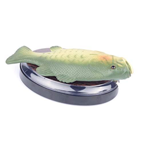 Qeedio Lustige elektronische Gesang Fisch Kunststoff beweglichen Fisch Spielzeug Simulation Fische Parodie batteriebetriebenes Spielzeug Halloween Dekoration, grün