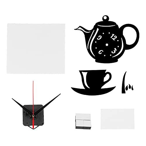 Jacksing Etiqueta engomada de la Pared del Espejo, Reloj de Pared Fuerte Sentido de la jerarquía PVC con Adhesivos para el Dormitorio para la Pared del sofá(Black)