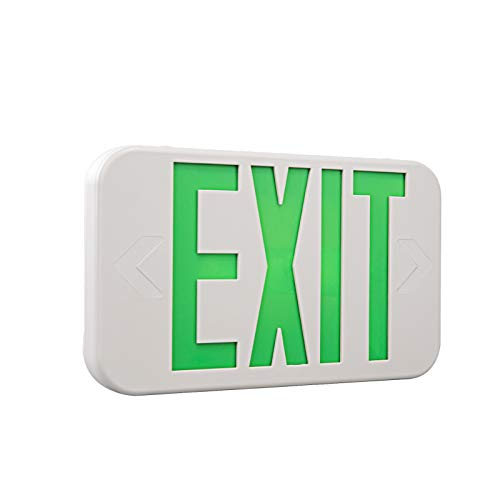 Spectsun 1 Pack LED Exit SignRed amp Green Letter UL Certified Exit Sign with Battery Backup Emergency Lights