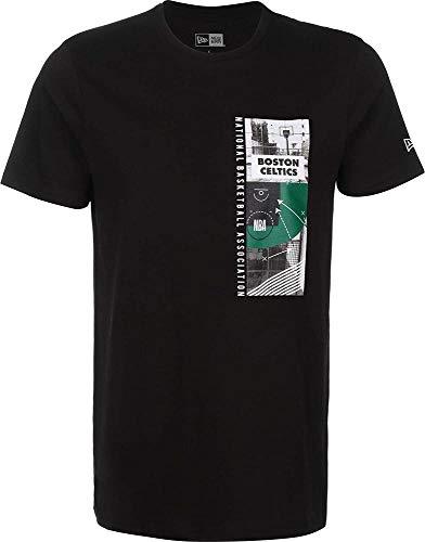 New Era NBA Photo Print tee Boscel Camiseta de Manga Corta, Hombre, Black, XS