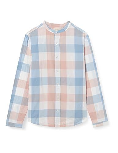 Gocco Camisa Popelin Cuadros, Rosa Viejo, 9-10 años para Niños