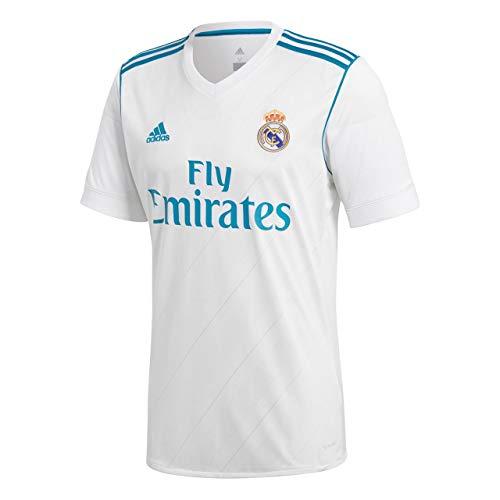 Adidas 1ª equipación Real Madrid 2017/2018 - Camiseta para Hombre, Blanco, L