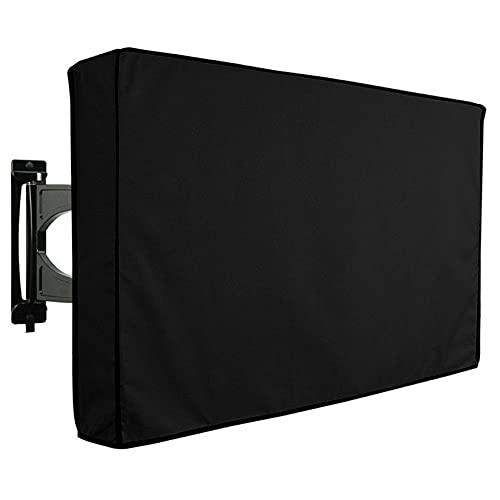 Funda TV Exterior Weatherproof, 600D Pesado Oxford Tela Protector Para Televisor Funda Cobertura Completa Protector De TV Con Tapa Inferior Para Externo LED, LCD-negro-40-42 pulgada