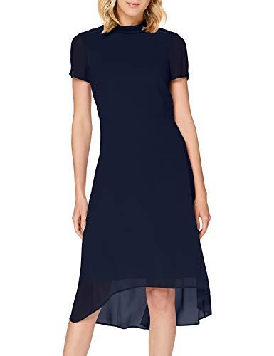 ESPRIT Collection Damen 030EO1E316 Kleid für besondere Anlässe, 400/NAVY, 36