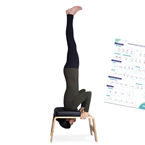 Sale!! Milliard Yoga Headstand Bench with Manual, Inversion Chair Trainer, Gym Workout Stool
