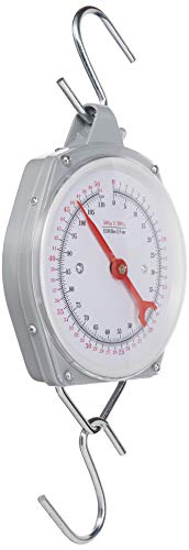 Pit Bull 1 X 110 lb. Hanging Spring Kitchen Dial Scale, Silver
