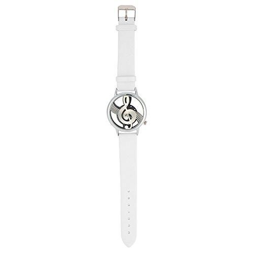 Cómodo de llevar Reloj de pulsera, Reloj de cuarzo, Suave para mujer para hombre(blanco)