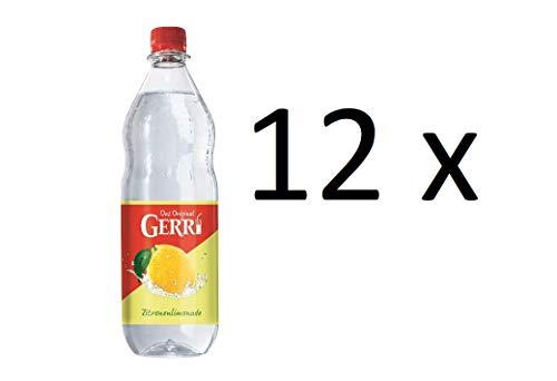 Gerry Zitrone klar 12 x 1000ml Zitronenlimonade Limonade in Pet Flaschen inclusive MEHRWEG Pfand