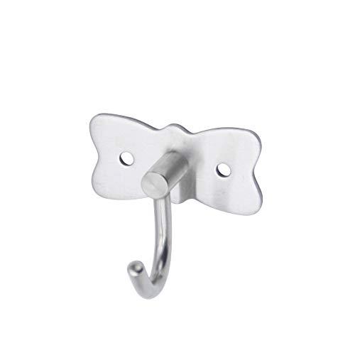 Wdonddongg wall hooks for hanging Stainless Steel Single Hook Single Hook, Creative Butterfly Drawing/towel Coat Hook