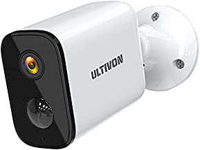[2021 Newest] Security Camera Outdoor, Ultivon 1080P Wireless Camera Rechargable Battery Powered, IP65 Weatherproof Outdoor Camera with Motion Detection, 32FT Night Vision, Two Way Audio, SD Storage