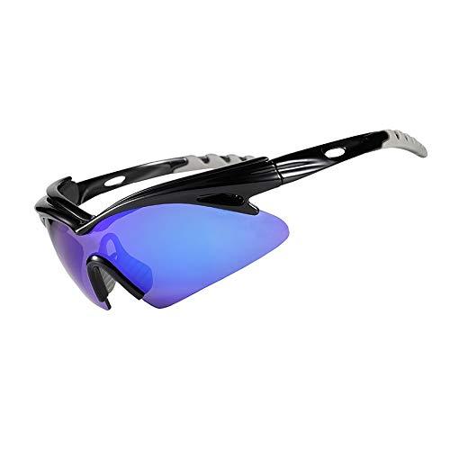 Lentes UV400 polarizado gafas de sol de ciclo de la lente al aire libre bici del deporte de Eyewear vidrios de la bicicleta de conducción Senderismo Pesca ( Color : CG 03 , Lenses Color : 5 lens )