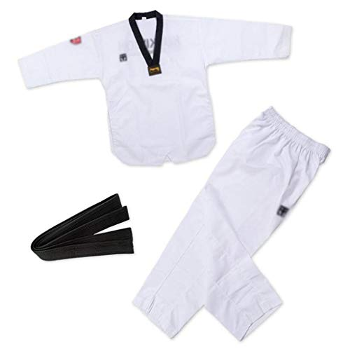 Modelos de hombres y mujeres la ropa / adulto Karate Taekwondo prendas de vestir trajes de formación / rendimiento ropa que visten entrenador / ancho de banda negro a rayas cinturón elástico for las a