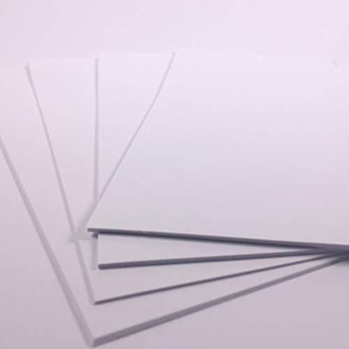 Cartulina de tamaño A2, color blanco brillante, tamaño grande, para manualidades, 180 g/m², 10 hojas