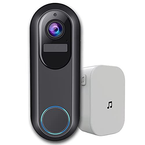 Weber Protect Video Türklingel mit Kamera | 180 Tage Akku, ohne Gebühren, Personenerkennung, FHD Video, SD Karte, WLAN, Smartphone