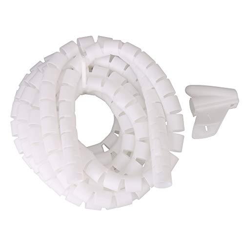 RDEXP Kabelspirale, 5 m, Weiß