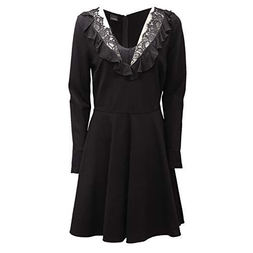 Pinko 9234AD Abito Donna Black with Lace Dress Women [42]