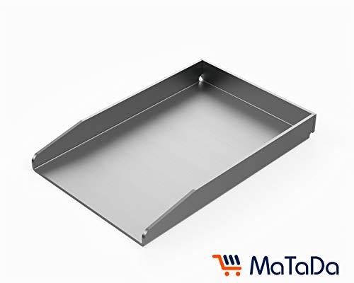 MaTaDa Edelstahl Grillplatte massiv I BBQ Plancha 20 x 30cm - Universalgröße passend für viele Gas- und Kohlegrills