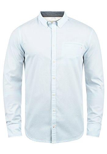 Blend Fill Herren Freizeithemd Hemd Mit Button-Down-Kragen Aus 100% Baumwolle, Größe:L, Farbe:Soft Blue (74641)