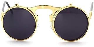 Steam Punk Clamshell Sunglasses Round Vintage Retro Designer For men women