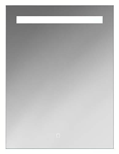 Sieper Bluestar Multimedia LED Badspiegel 60 x 80 cm Badezimmerspiegel mit Beleuchtung Lichtspiegel Wandspiegel mit Sensorschalter und Bluetooth mit Lautsprecher