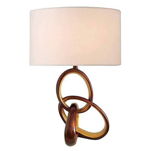 VIWIV Lámpara de escritorio creativa simple moda de resina LED lámparas dormitorio iluminación arte novedad lámpara de mesa 1 * (36 x 56 cm)