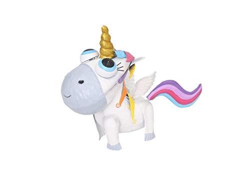 Perrys - Figura Unicornio Metal bebé Color Blanco