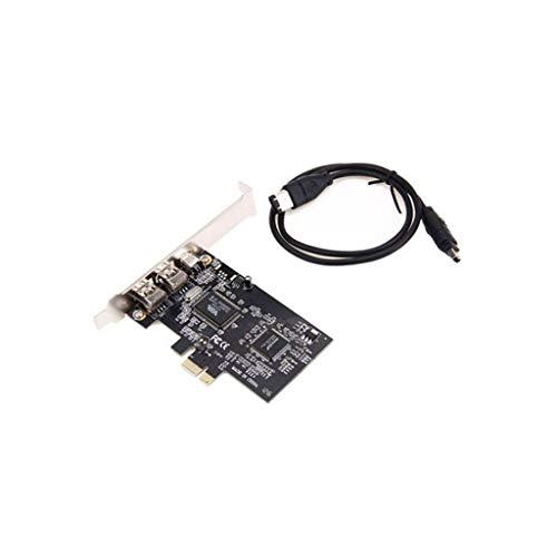PETSOLA Pcie Pci-e Firewire Ieee 1394 2 + 1 Tarjeta de Controlador 3port para Computadora de Escritorio
