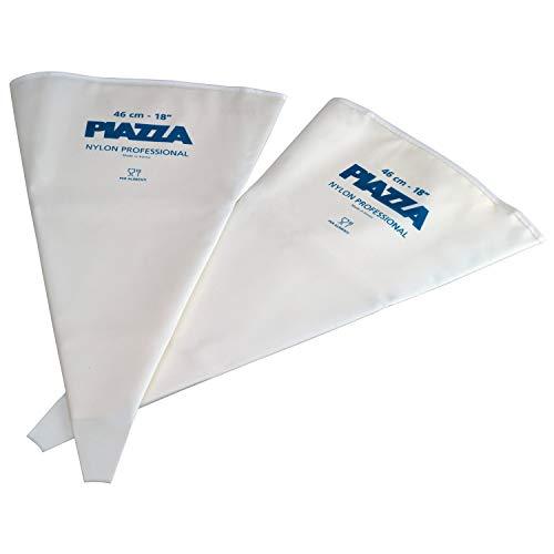 PIAZZA Saccapoche Professionale in Nylon - Confezione da 2 Pezzi - 46 cm