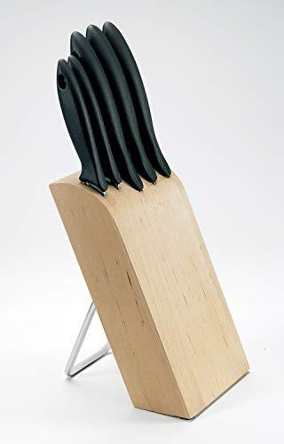 Fiskars 1023782.0 Stamm 5 Essential Messer - Besteck, Stahl, Mehrfarben, 38 x 8 x 13 cm