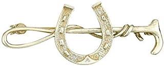 J R Jewellery - Spilla a forma di ferro di cavallo, in argento Sterling massiccio, fatta a mano su ordinazione, con marchio