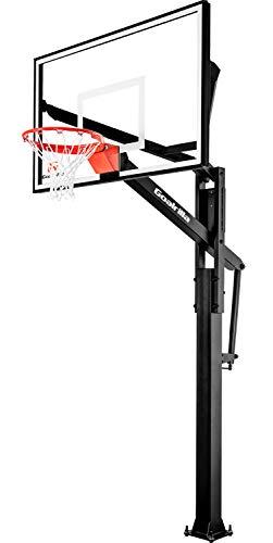 Goalrilla FT60 Basketball Hoop with Tempered Glass Backboard, Black...