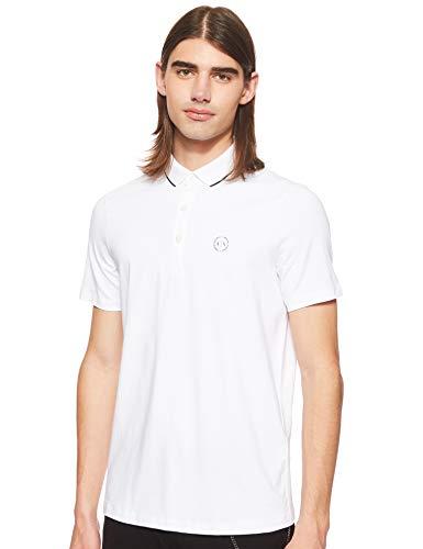 Armani Exchange Herren 8NZF70 Poloshirt, Weiß (White 1100), One Size (Herstellergröße: XS)