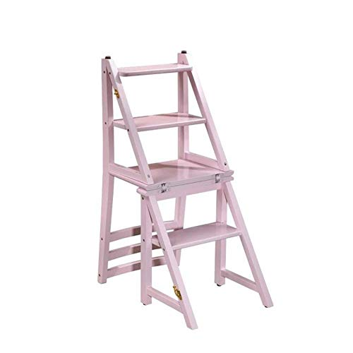 MHBGX Multifunction Folding Step Stool,Ladder Stool Solid Wood Ladder Chair Home Folding Stepping Stools Multifunctional Chair Dual-Purpose Chair