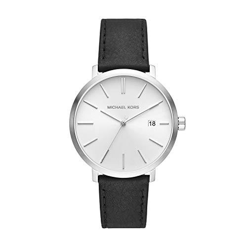 Michael Kors Herren Analog Quarz Uhr mit Leder Armband MK8674