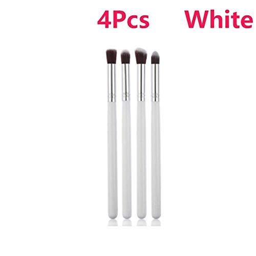 MEISINI Makeup Brush Soft Cosmetic Makeup Foundation Powder Blush Eyeliner Brushes, 4Pcs White