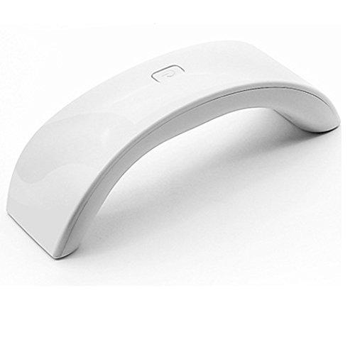 MIMI KING Ongles Outils Photothérapie Machine Mini 9W Séchage Rapide USB Portable Nail Light 5.3 * 16.8 * 5 CM,White