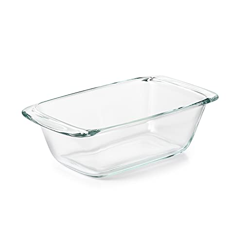 OXO Good Grips Freezer-to-Oven Safe 1.6 Qt Glass Loaf Pan,Clear,