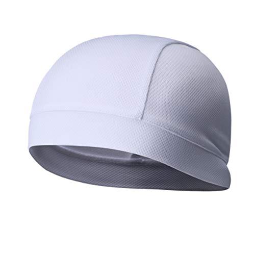 GOMYIE Radfahrende atmungsaktive Kopfkappe Schnelltrocknende Kappe Outdoor-Fahrradkappe für Frauen und Männer,Weiß