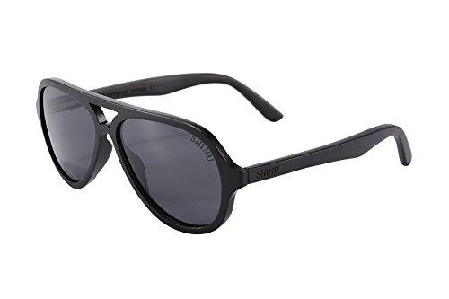 SHINU Gafas de Sol Polarizadas Hechos a Mano Vidrios de Madera de Madera del Gafas Piloto Gafas-SH73013