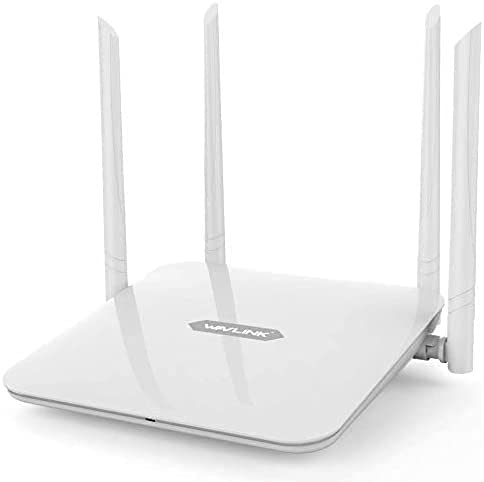 WAVLINK AC1200 Dual-Band Wireless Router, High Speed WiFi Smart Router with 4x5dBi High Gain Antenna for Home Office Internet Gaming,Long Range Coverage for Works(WLAN Access Point/WISP/WPS)