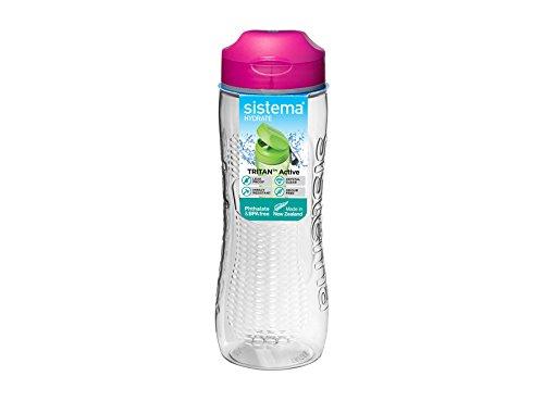Sistema 6503ZS Hydrate Tritan Active Bottle, Pink, 800 ml
