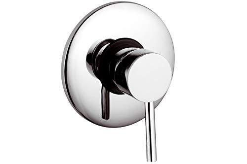 Rubinetto miscelatore doccia moderno ad incasso parete silver cromato 1093