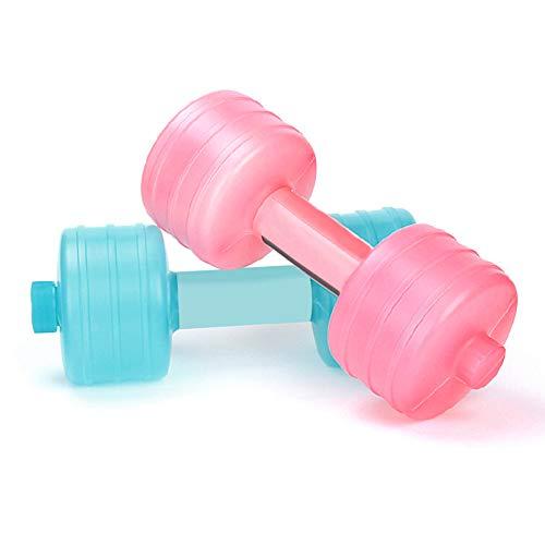 MediFancy Wassergefüllte Hantel, verstellbares Gewicht, Hanteln, Handkraft-Fitnessgerät für Frauen, zufällige Farbe, 1 Stück