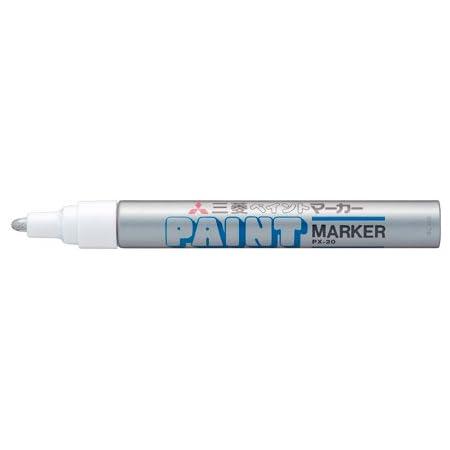 三菱鉛筆 ペイントマーカー 中字 銀 PX20.26