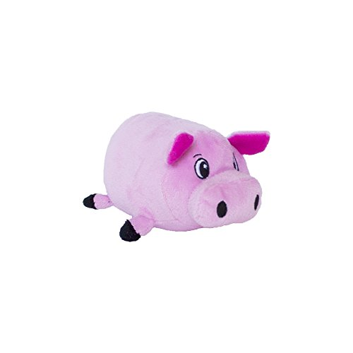 Fattiez Round Squeaky Plush Dog Toy by Outward Hound, Small, Pig