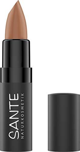 Sante Naturkosmetik Matte Lipstick 01 Truly Nude, Lippenstift, Matt-Effekt, Mit Bio-Kakaobutter, Intensive Farbpigmentierung, 4,5g