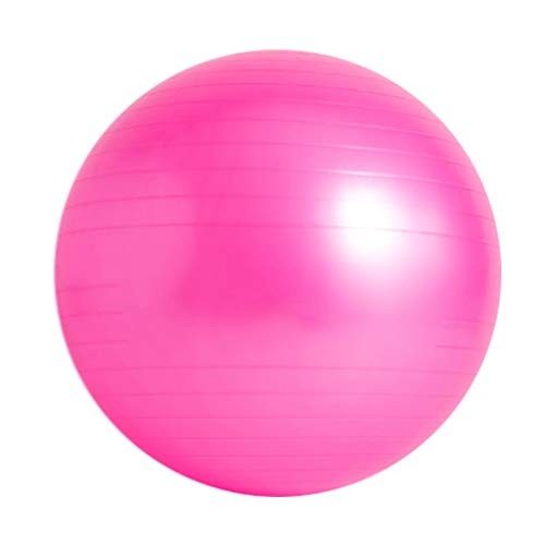 XSJ-Sports & Fitness Yoga Ball Schwangerschaft Übung Ball Anti-Burst Gymnastikball Office Home Gym in DREI Größen erhältlich 55/65 / 75cm (Farbe : Pink, größe : 55cm(Height 150-160cm))