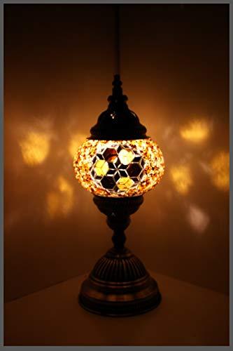 Mosaiklampe Mosaik - Tischlampe S Stehlampe orientalische lampe Gold Samarkand-Lights