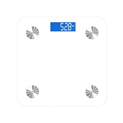 HEWEI Báscula electrónica Básculas de Grasa Corporal Bluetooth Premium Básculas de pesaje Digitales Báscula de Alta precisión Analizador de composición Corporal APLICACIÓN Inteligente para Peso co