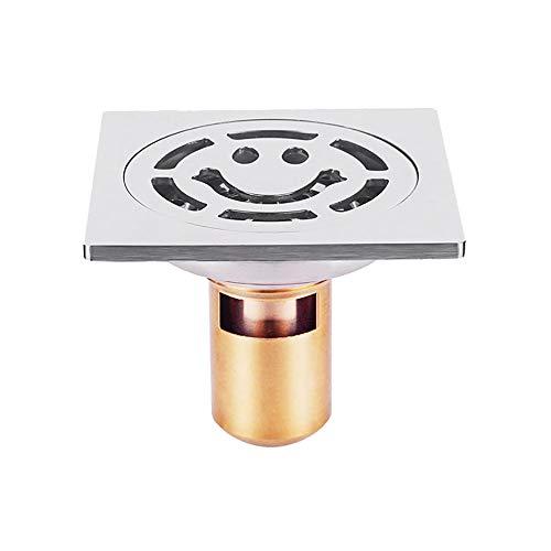 Voixy Bodenablauf für Badezimmer, Küche, Balkon, aus Edelstahl 304, 10 x 10 cm (523, tief)